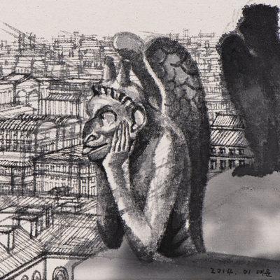 [A0028-0018] Notre-Dame De Gargoyle_노트르담의 가고일