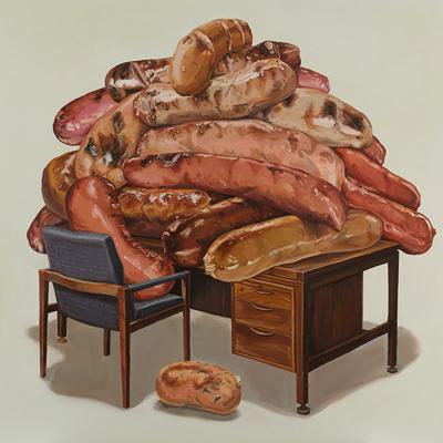 [A0030-0006] 책상위의 소시지들 (Sausages on the Desk)