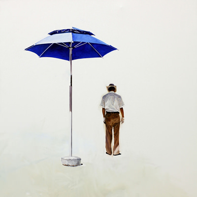 [A0034-0007] A Man with a Parasol
