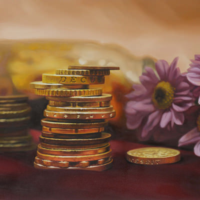 [A0041-0011] Coins and Flowers 3