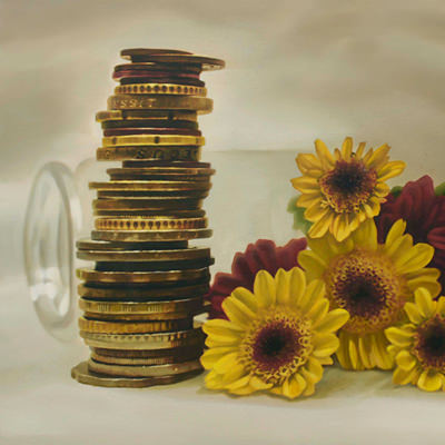 [A0041-0017] Coins and Flowers 2