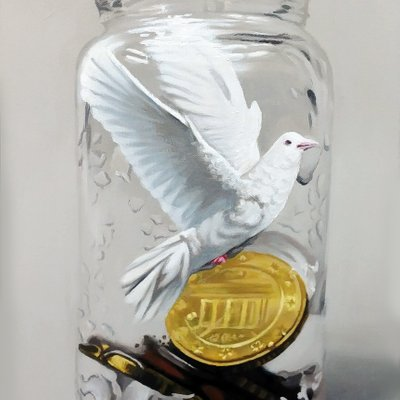 [A0041-0073] Coins in the bottle-bird10