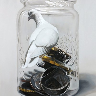 [A0041-0074] Coins in the bottle-bird9