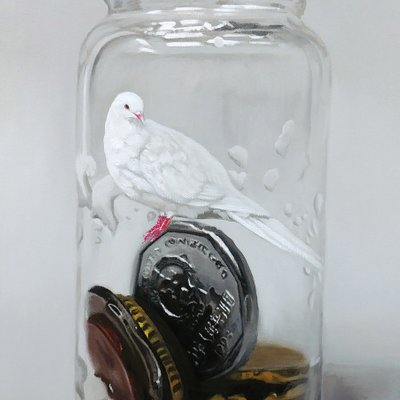 [A0041-0075] Coins in the bottle-bird8