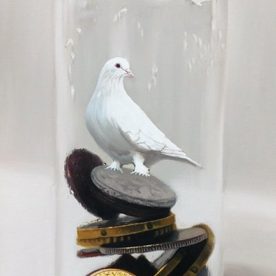 [A0041-0079] Coins in the bottle - bird 11