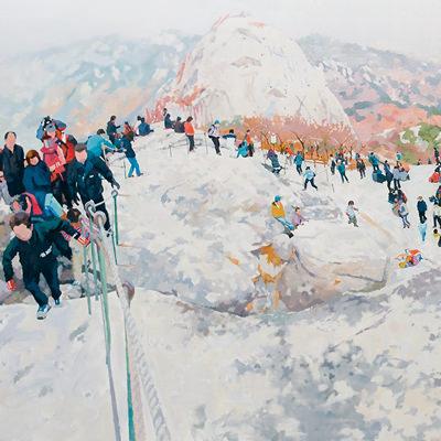 [A0045-0008] Climbers-백운대