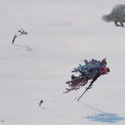[A0051-0026] 변형된 욕망-눈밭에 여우