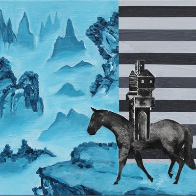 [A0055-0039] 움직이는 집- 푸른 산수 1