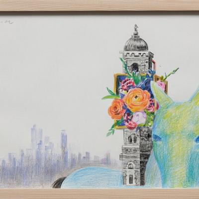 [A0055-0106] 움직이는 집- 꽃과 도시