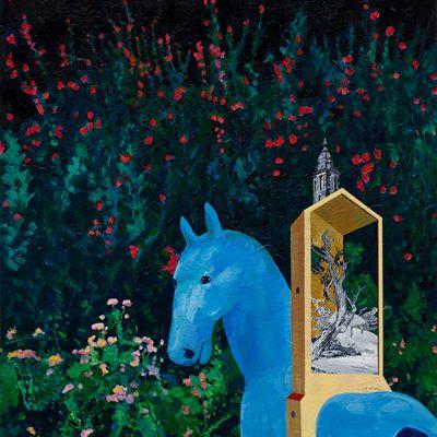 [A0055-0119] 움직이는 집-꽃과 말