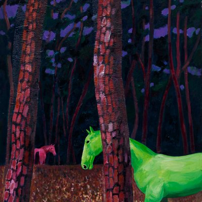 [A0055-0188] 숲과 말