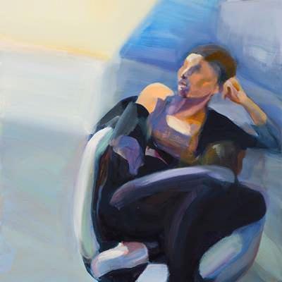 [A0073-0083] 의자 위의 여인