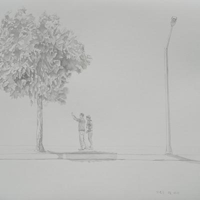 [A0080-0024] 가로수 그늘 아래