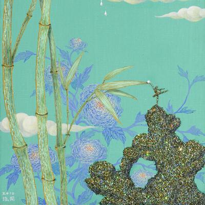 [A0081-0012] 이슬이 떨어지는 정원