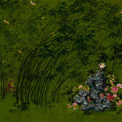 [A0081-0041] 竹(죽)-따리의 대나무숲을 가르는 아이언맨