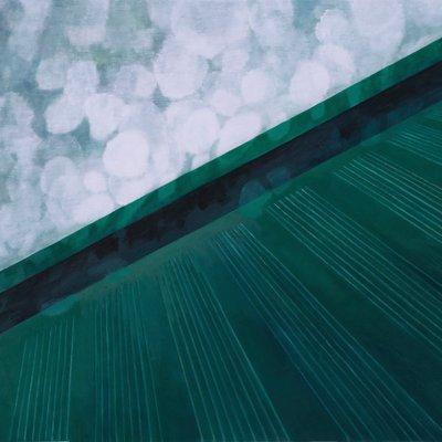 [A0082-0019] 시멘트벽과 초록바닥