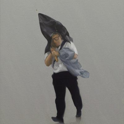 [A0090-0017] 검은 우산