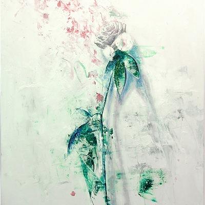 [A0110-0022] White Rose - 깜깜한 밤에도  당신의 손으로 꽃을 피워 봐요