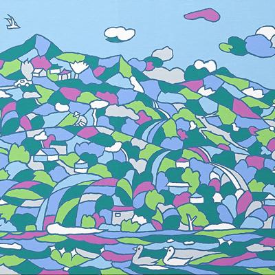 [A0112-0002] 채집풍경-꽃피는북한강