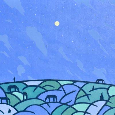 [A0112-0065] 채집풍경-달밤오름
