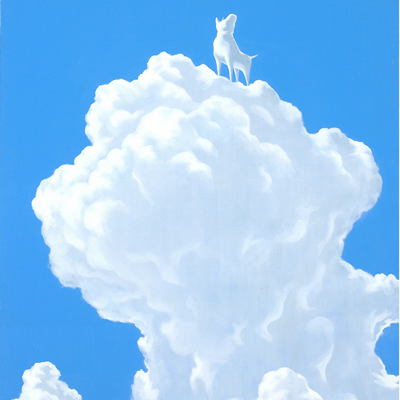 [A0113-0005] Dog on the cloud