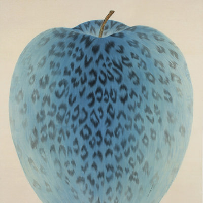 [A0116-0004] Leopard Apple -RED/ BLUE