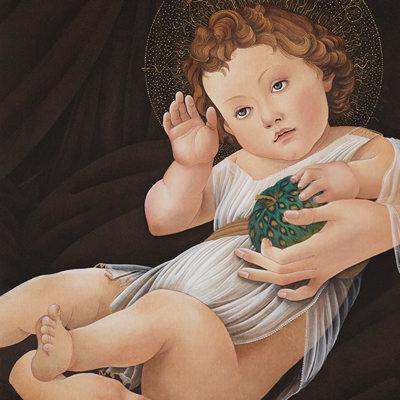 [A0116-0020] 아기예수와 호피사과