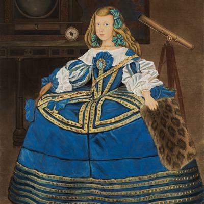 [A0116-0043] 푸른 드레스의 지성(知性)(The Intellect in Blue Dress)
