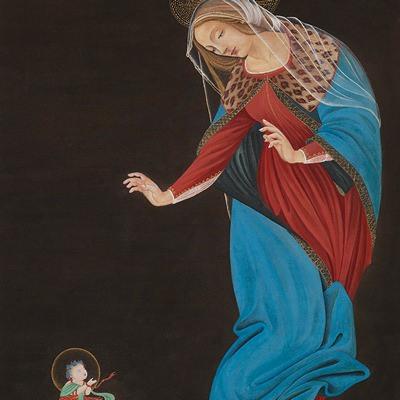 [A0116-0057] 마리아와 동자