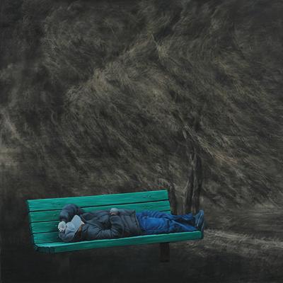 [A0140-0007] 쉬고 있는 남자