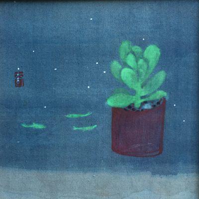 [A0141-0077] 선인장과 물고기