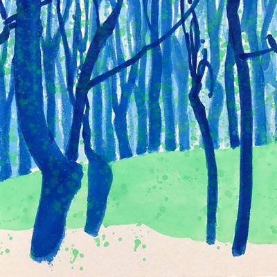[A0141-0103] 푸른 숲