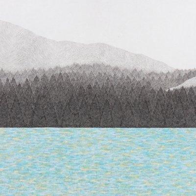 [A0143-0082] 호숫가 숲