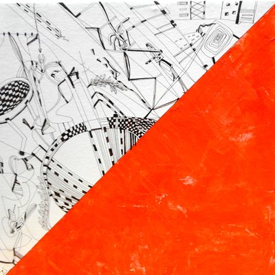 [A0146-0053] orange drawing