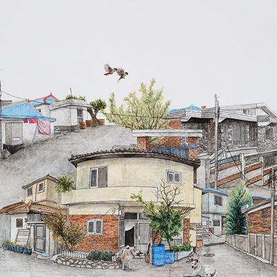 [A0150-0010] 眞景(진경)- 열우물 마을