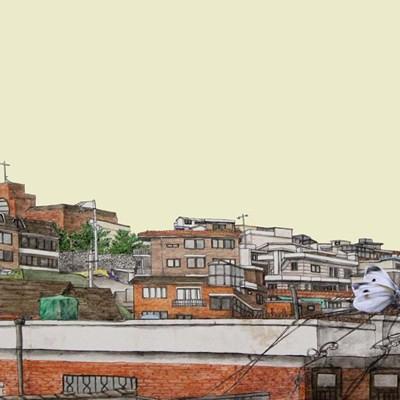 [A0150-0013] 眞景(진경)- 하얀나비