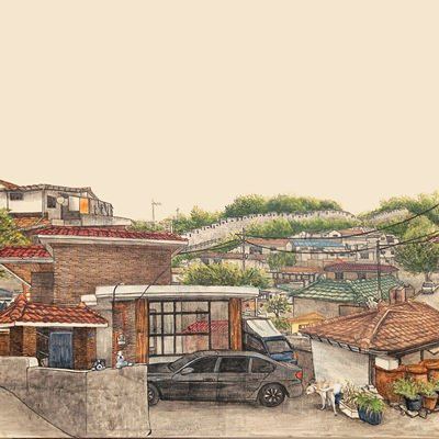 [A0150-0014] Realview_ 성곽과 마을이 아름다운