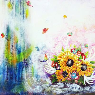 [A0153-0088] Endless Blossoms-Sunflower