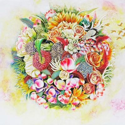 [A0153-0090] 꽃보름달