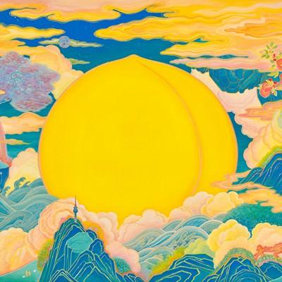 [A0154-0068] PEACH PARADISE-gold