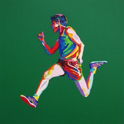 [A0164-0097] jumping Boy