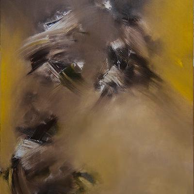 [A0172-0009] Light of Wind No.23 노란빛 사이의 갈색 바람