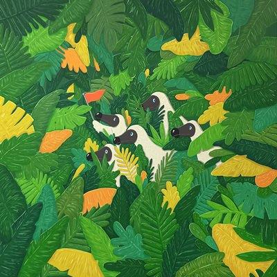 [A0174-0102] Dodo guide in the jungle