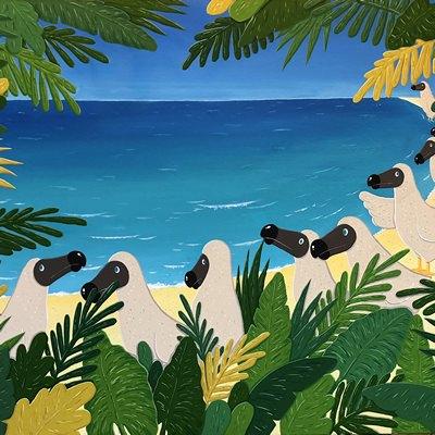 [A0174-0103] Dodo in the island