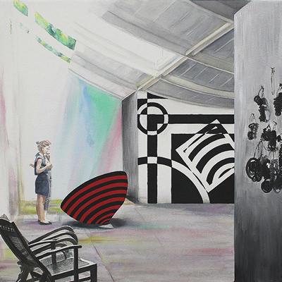 [A0181-0003] Observer in Art Museum 미술관의 관찰자