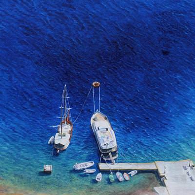 [A0181-0021] blue season - 산토리니 선착장