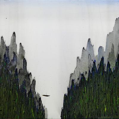 [A0184-0037] 산수, 노닐기 -정경(情景)