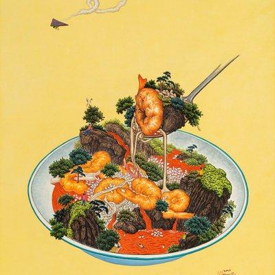 [A0186-0061] 맛있는산수(새우리조또)