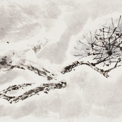 [A0210-0016] 설송(雪松) / Pine tree in the snow