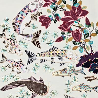 [A0214-0006] 물고기와 꽃